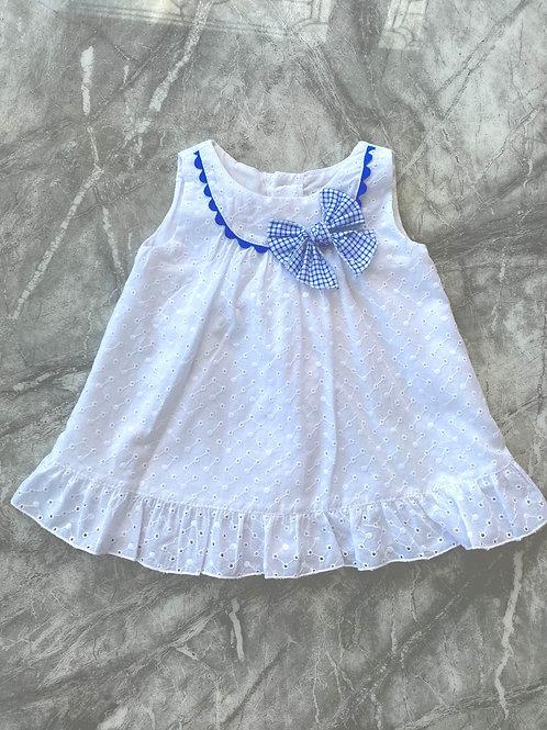 Alber White Broderie Dress