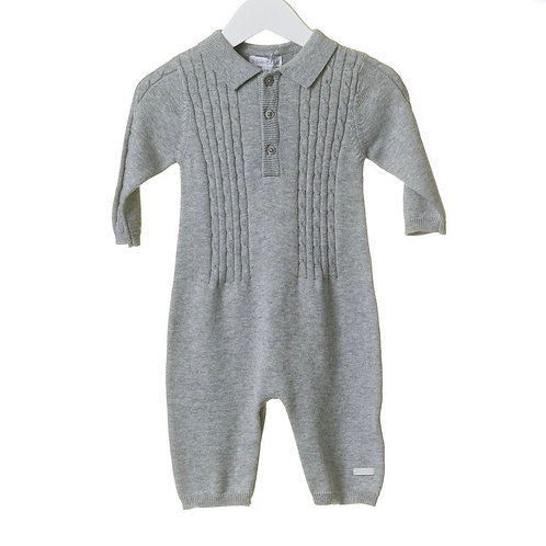 Grey Cable Knit Romper