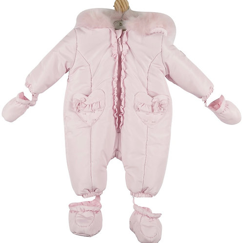 Mintini Pink Heart Snowsuit