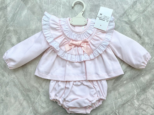 Pink Frill Neck Two Piece