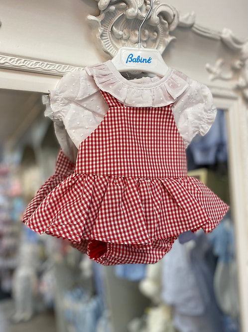 Babine Red Gingham Romper and Shirt