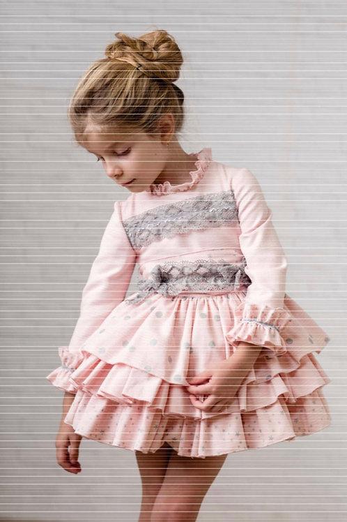 Ricittos Pink Polka Dot Dress