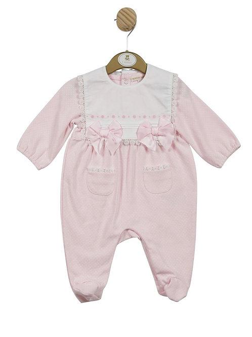 Mintini Pink Bib Babygrow