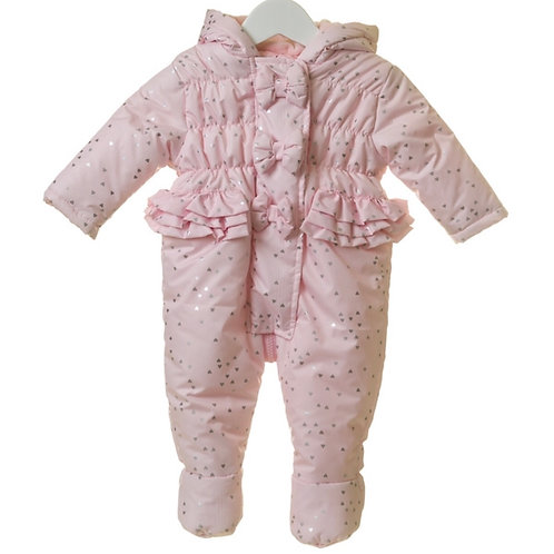 Baby Girl Frill Snowsuit
