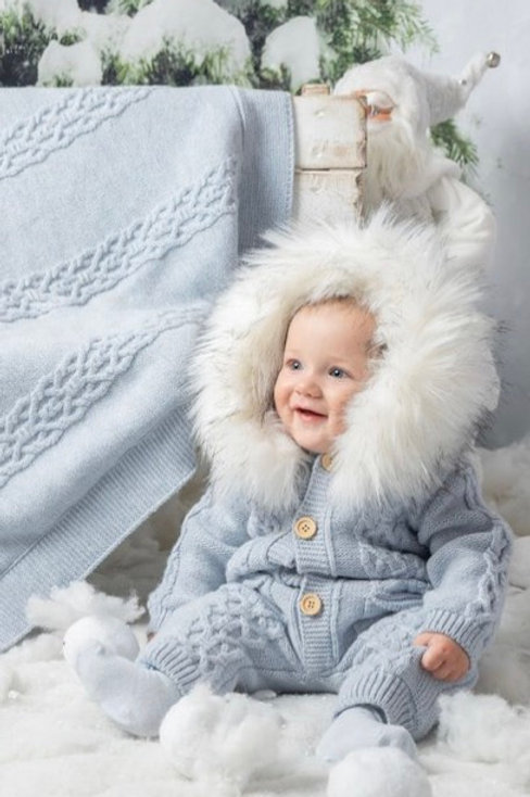 Caramelo Aran Knit Snowsuit