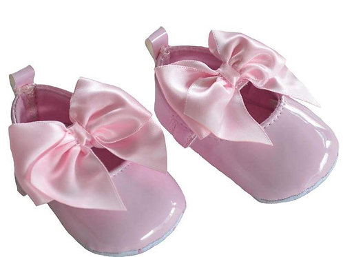 Soft Sole Pink Shoe With Bow
