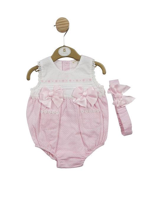 Mintini Pink Romper & Headband Set