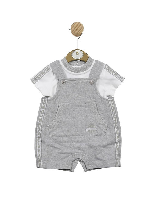 Mintini Grey Dungaree & Top