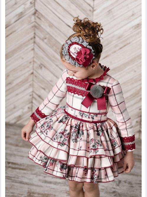 Ricittos Check Pom Pom Dress