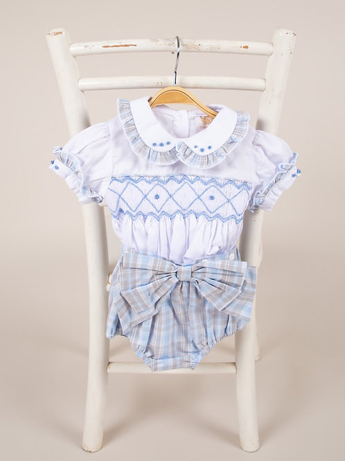 Caramelo Girls Smocked Short Set