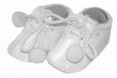 Joe White Pom Pom Shoe