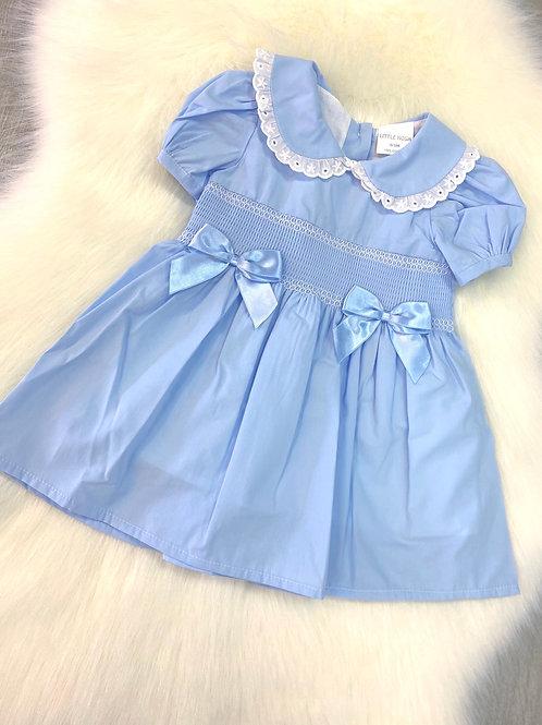 Little Nosh Blue Smock Dress