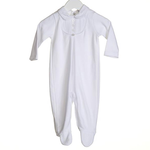 Unisex Sleepsuit With Contrast Bib
