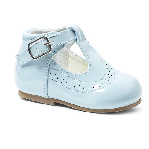 Boys Blue T Bar Shoes
