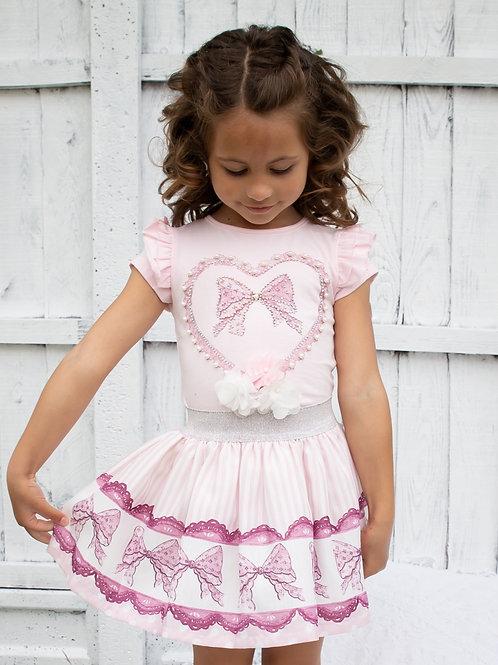 Caramelo Heart Skirt Set