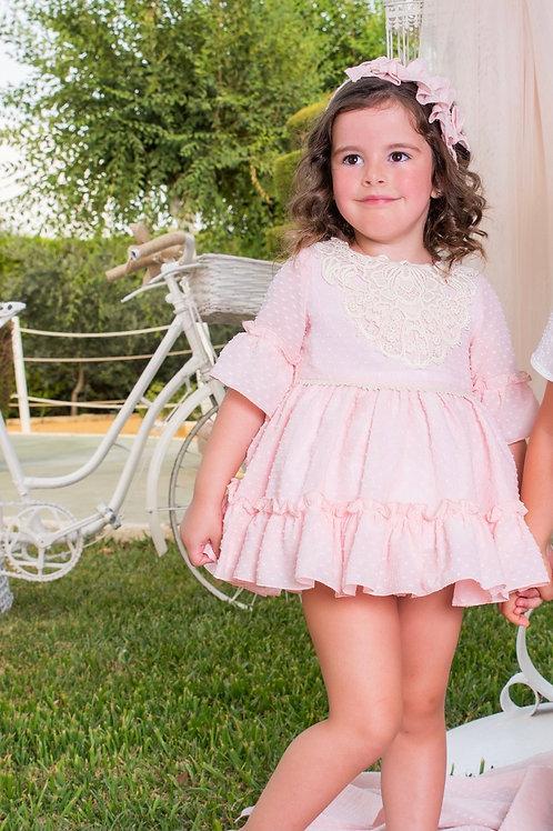 Babine Pink Lace Dress