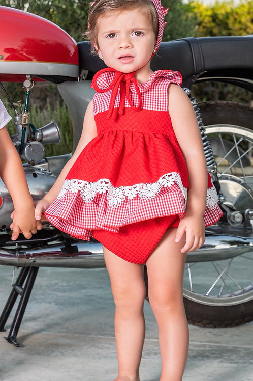 Babine Red Dress and Knickers