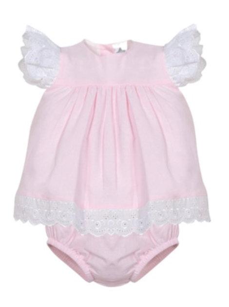 Minhon Pink Frill Dress & knickers