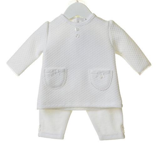 Baby Girls White Three Piece