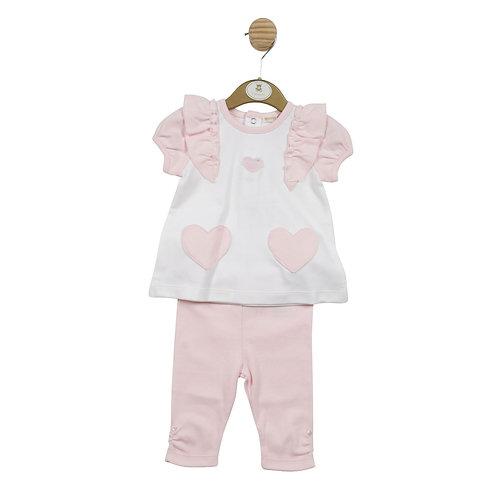 Mintini Pink Heart Legging Set