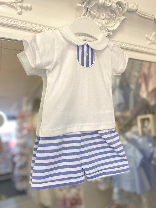 Minhon Stripe Shorts Set