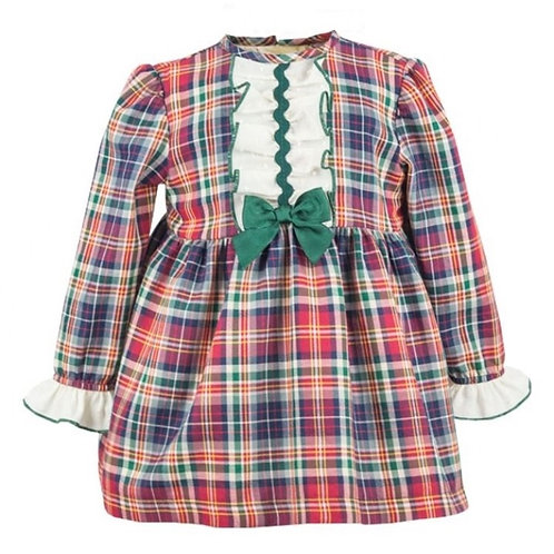 Spanish Tartan Dress With Frill