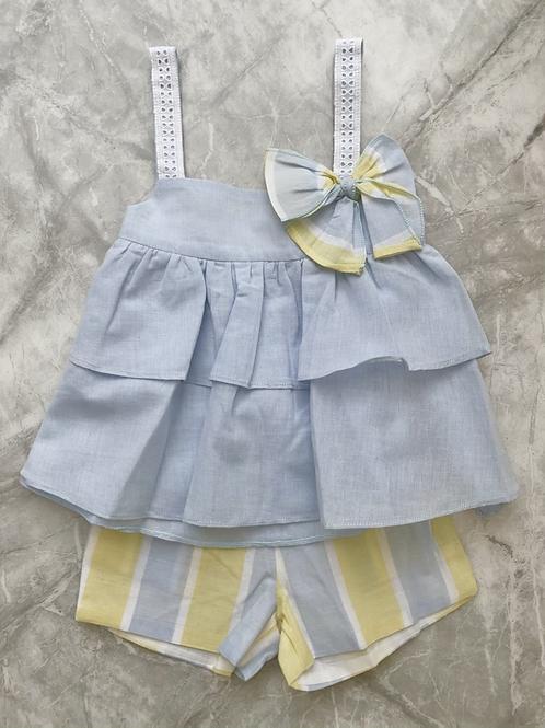 DBB Blue & Yellow Stripe Short Set