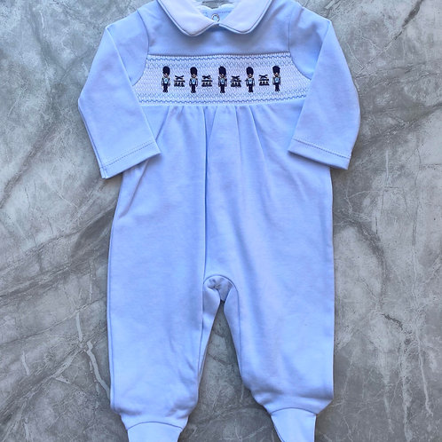 Blues Baby Smock Soldier Sleepsuit