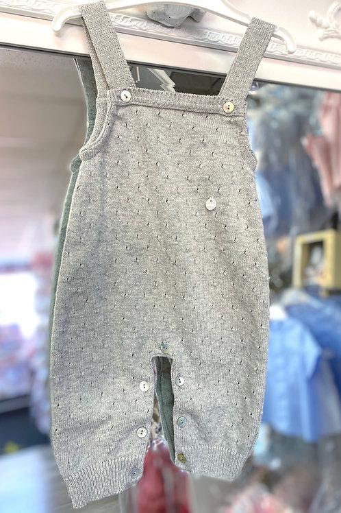 Minhon Grey knit Dungarees