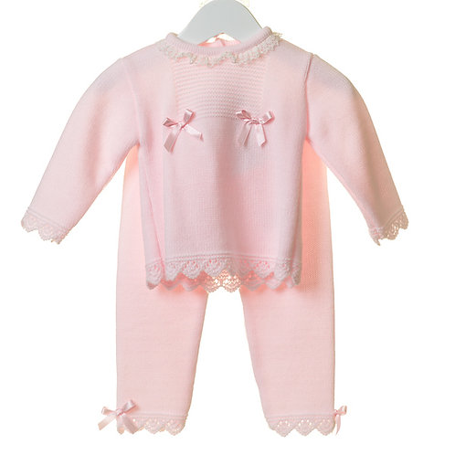 Baby Girl Pink Knit Two Piece