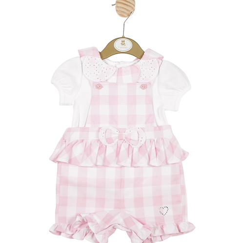 Mintini Gingham Dungaree Set