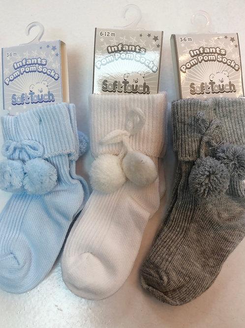 Ankle pom socks