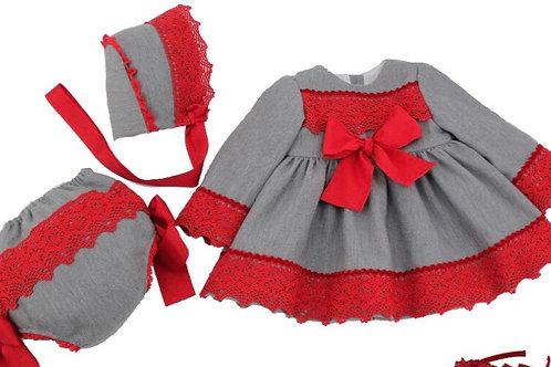Ricittos Baby Girl Grey Dress
