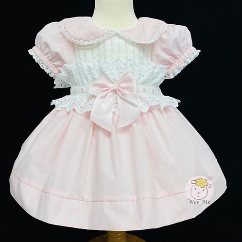 Pink Frill Waist Dress