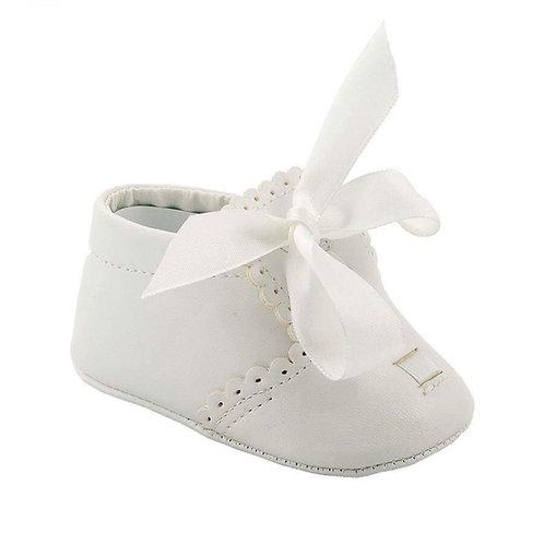 Elliot White Ribbon Shoe