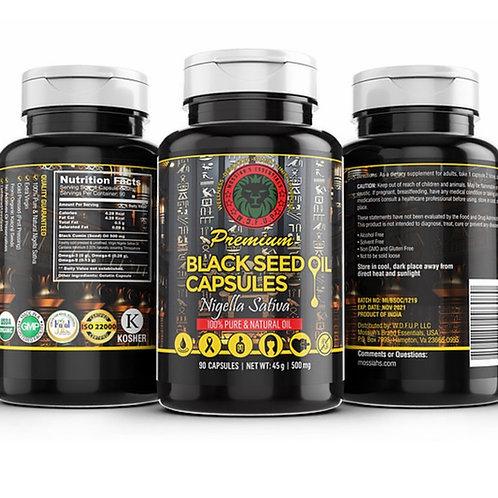100% Organic Black Seed Capsules 90 count