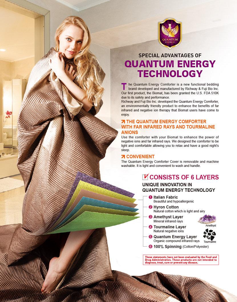 Quantum Energy Comforter - Amethyst BioMat International