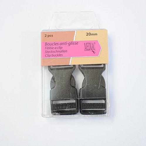 Gesp clip ceintuur antislip 20mm