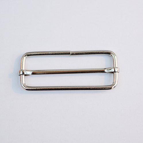 Verstelbare gesp zilver 55mm