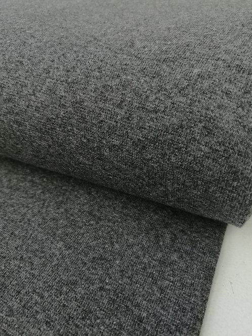 Fijne boordstof grijs melange