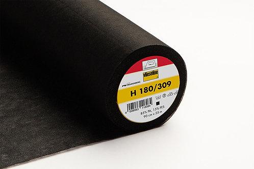 Vlieseline plakbare tussenvoering H180 zwart