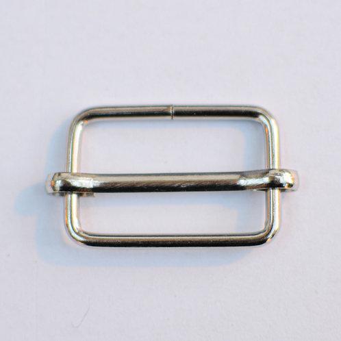Regelbare gesp zilver 25mm