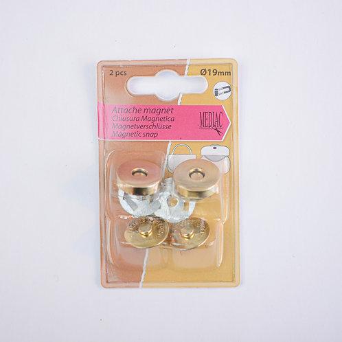 Magneetsluiting goud 10mm