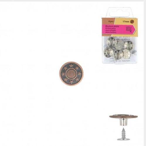 Jeansknopen brons 17mm