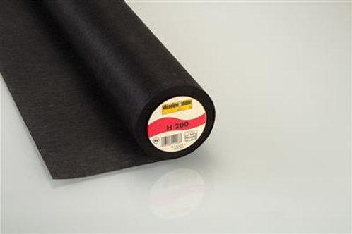 Vlieseline plakbare tussenvoering H200 zwart
