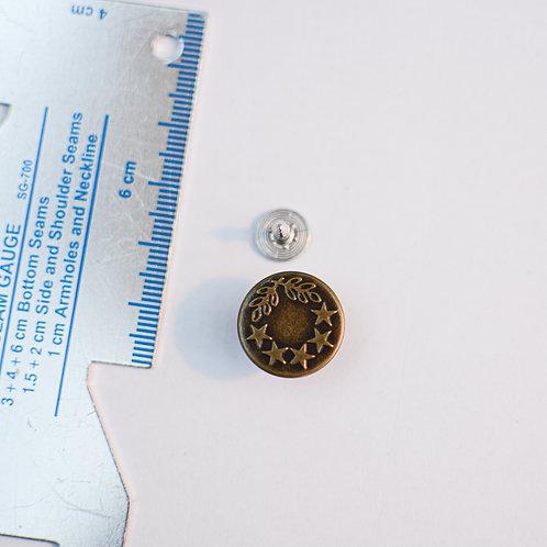 Jeansknop brons