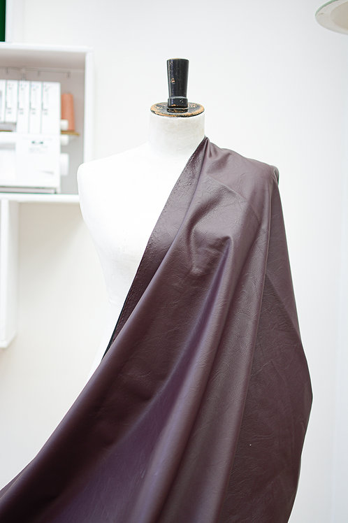 Polyester imitatieleer aubergine