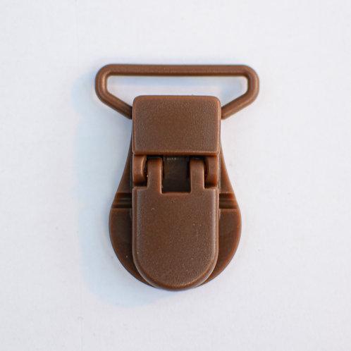 Clip voor fopspeen bruin kunststof