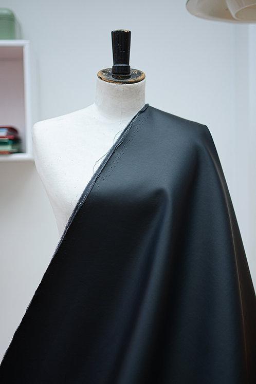 Imitatieleer uni mat zwart