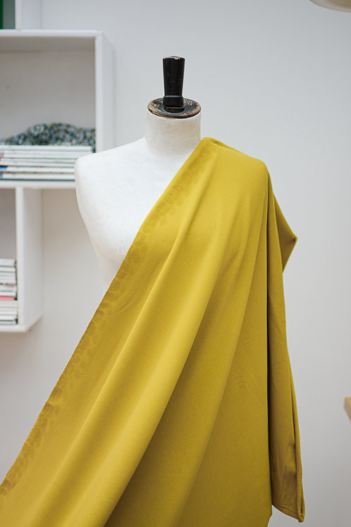 Sweaterstof uni geel